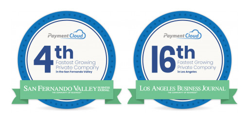 LA and SFV Business Journals Rank PaymentCloud Among Fastest Growing Companies