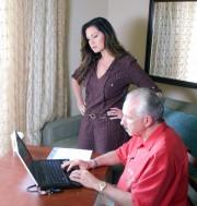 Investigator T.J. Ward demonstrates LVA to Inside Edition's Lisa Guerrero