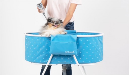 Furesh Launches One-of-a-Kind, Foldable Dog Bathtub