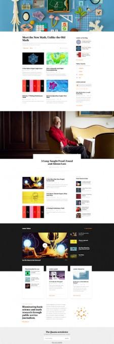Quanta Magazine Homepage