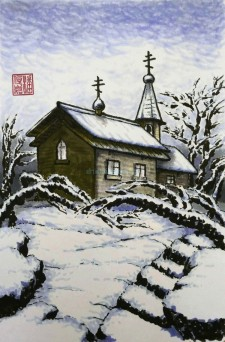 Chapel in winter