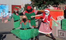 Local 'elves' were on hand to help make the day special for one and all