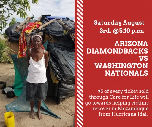 Care for Life Teams Up With Arizona Diamondbacks to Build and Repair Homes for Thousands of Victims in Mozambique