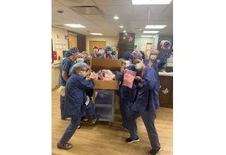 Staff at Lenox Hill Hospital in New York City
