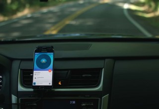 Drive Sleek with Samsung phone