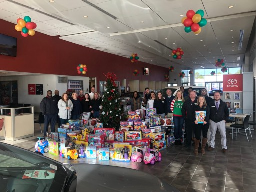 Toyota of Milledgeville Raises Thousands for Toys for Tots