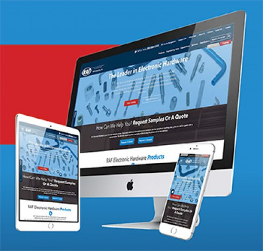 RAF Electronic Hardware Launches New Website With Online Catalog and On-Demand CAD Drawing Downloads