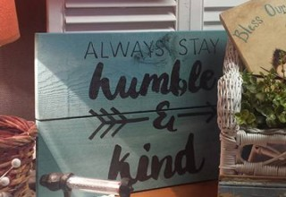 Home Decor Sign painted with Barn Star Stencil