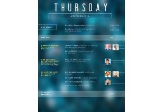 Schedule for Thursday, Oct. 3, 2019, RAADFest 2019