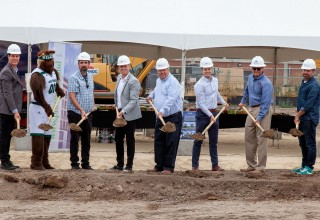 Ground is broken at The Hub student apartments site in Orem, Utah