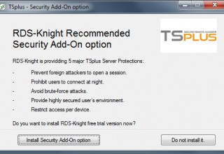 Install RDS-Knight Add-on along with TSplus 11.40 Setup or Update