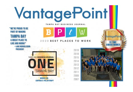 Vantagepoint AI Named Best Place to Work by Tampa Bay Business Journal for the 10th Time