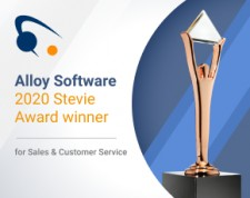 Alloy Software Wins Bronze Stevie Award for Sales & Customer Service