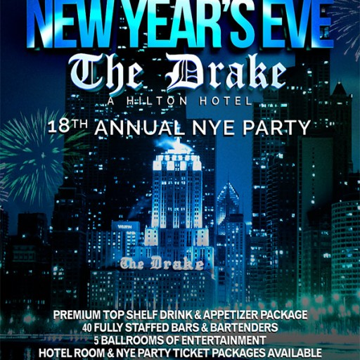 New Year's Eve Party 2018 at the Drake Hotel Chicago Hosted by Chicago Scene