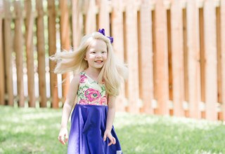 Claire, a Wigs for Kids recipient
