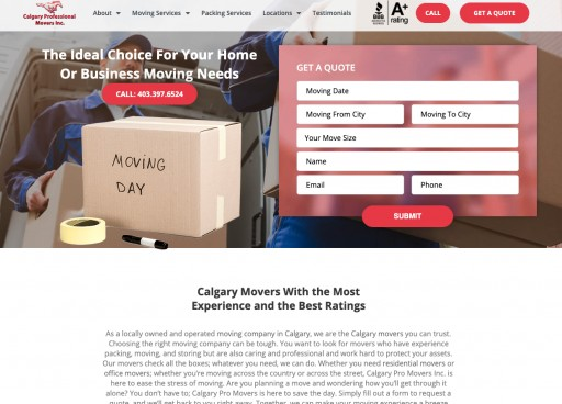 New Pro Movers' Website Open to Customers