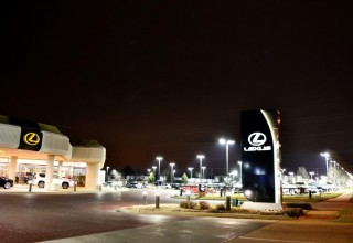 LED Parking Lot Lighting for Auto Dealer Applications