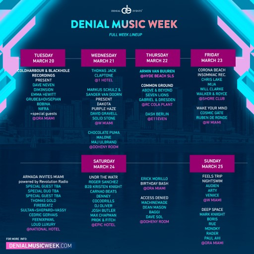 Denial Events Curates Best Lineup of Miami Music Week 2018