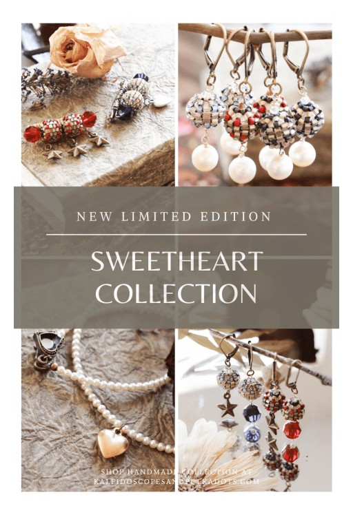 1940s Sweetheart Jewelry Inspires a New Jewelry Collection by Kaleidoscopes & Polka Dots