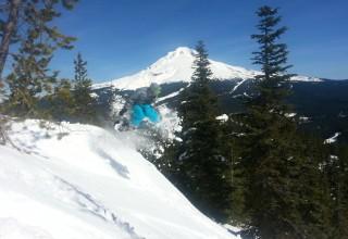 Skiing on Oregon's Mt. Hood