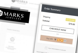 Marks Jewelers Cryptocurrency Checkout Option