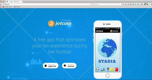 Jetcoin Launches Football App Stadia For Fans Worldwide