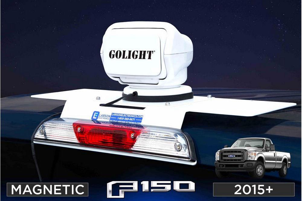 -Chrome Larson Electronics 1017OJI5G2G 100W Halogen Driver side WITH install kit 6 inch 2015 International TRANSTAR-LH Door mount spotlight
