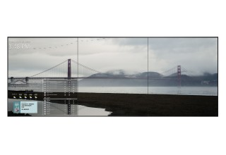 Video Wall Featuring 'Golden Gate Reflection' by William Mackie, San Francisco, California