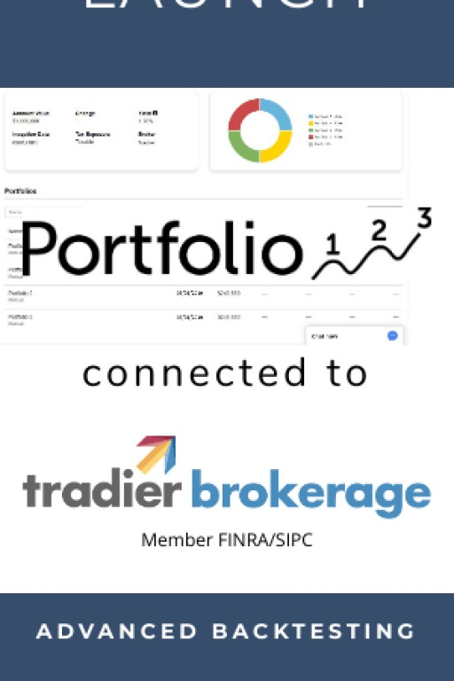 Tradier Brokerage Powers Portfolio123 to Add Seamless, Commission Free Trading to Their Next-Gen Platform Which Lets Investors Create and Manage Strategies