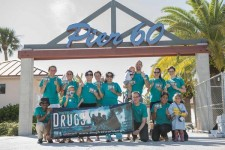 Volunteers from the Foundation for a Drug-Free World Florida ran in the Goodwill Hippie 5K to promote drug-free living.