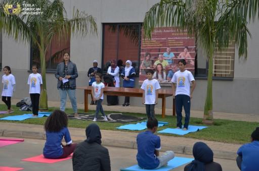 International Yoga Day Commemoration at Texila American University-Zambia
