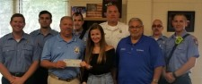 The Cary Fire Department, OmniShield Dealers and Scholarship Recipient, Alexis Schondelmayer