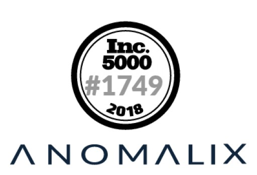 Anomalix Ranks No. 1,749 on the Inc. 5000 List With Three-Year Sales Growth of 260 Percent