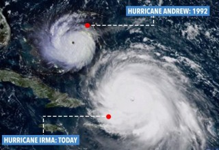 Growing Storms: Hurricane Irma vs Hurricane Andrew
