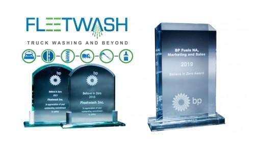 Fleetwash Receives Third Prestigious Safety Award