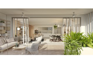 Beach Club Residences - Interior Terrace Render