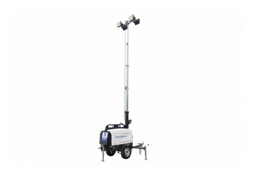 Larson Electronics Releases 25' Telescoping Tower With 6000W Generator, Water-Cooled Diesel Engine