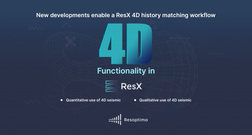 Resoptima Announces 4D Seismic History Matching for Its ResX Geomodelling and Data Conditioning Product