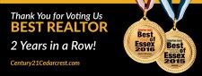 Century 21 Cedarcrest Realty, Inc. Best of Essex 2016