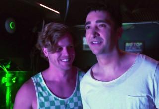 Hunter (Oscar Mansky) and Leo (Thales Corrêa) from Bathroom Stalls & Parking Lots