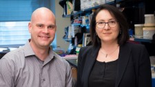 Gladstone scientists Katerina Akassoglou and Mark Petersen