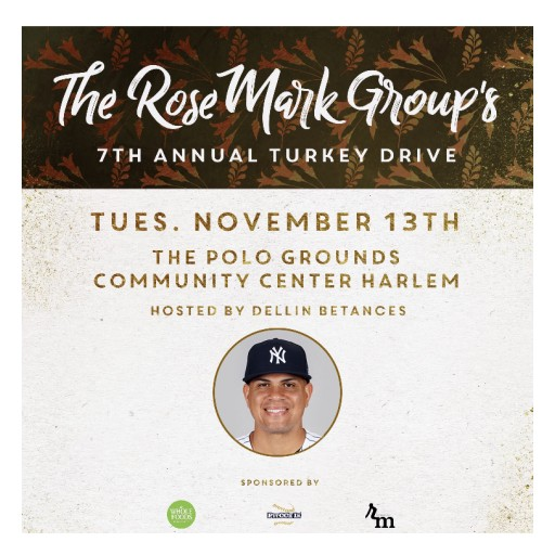 The Rosemark Group Presents the 7th Annual Harlem Turkey Drive With New York Yankees Dellin Betances & Whole Foods Market