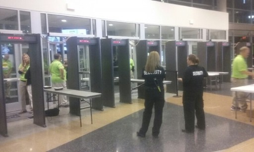 Walk Through Metal Detectors at the Pinnacle Bank Arena