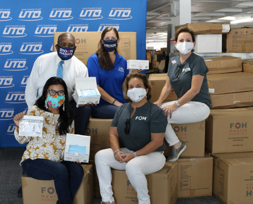 FOH Health Essentials™ Donates Over Half a Million Masks to the United Teachers of Dade