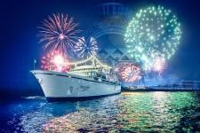 Fireworks illuminate the Freewinds