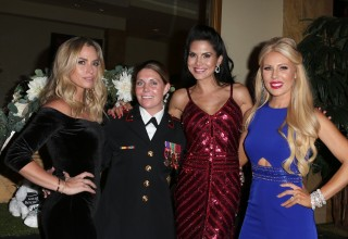 Reality Stars with formal Corporal Megan Leavy who was awarded the Dog Hero Award at the Vanderpump Dog Foundation Gala Presented by Zappos for Good