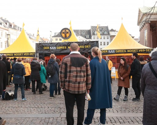 Practical Help in the Bright Yellow Tent in the Heart of Copenhagen