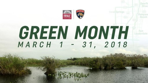Florida Panthers Announce 'Green' Initiatives for March