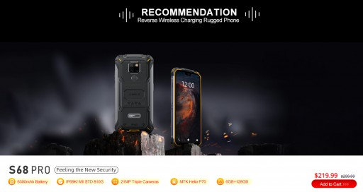 DOOGEE S68 Pro: The World's First Wireless, Reverse-Charging, Rugged Smartphone