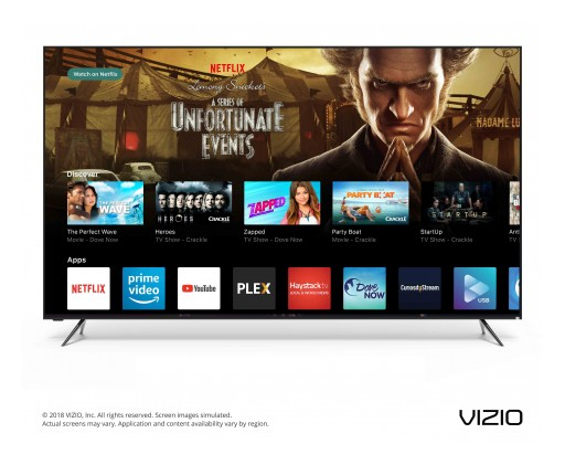 VIZIO Unveils Next Era of Smart TV With Canadian Launch of the 2018 SmartCast™ OS